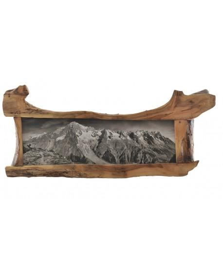Quadro in Noce Massello Monte Bianco 200x93x7