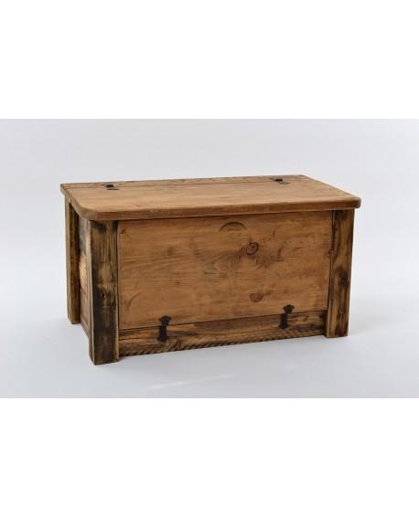 Panca/scarpiera legno vecchio 103x54x54