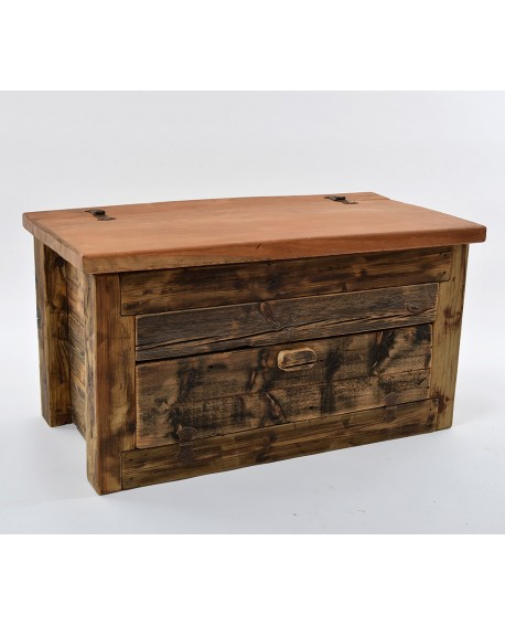 Panca/scarpiera legno vecchio 100x55x55